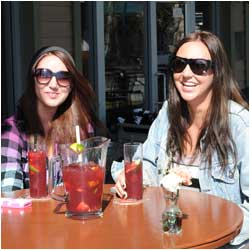 Enjoy drinks on the patio at the Rose and Crown Pub