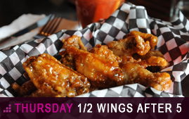 Thursday Wings Special